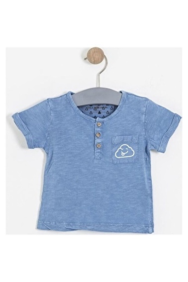 Soobe Kısa Kol Tişört Erkek Bebek Giyim (0-2 Yaş) Mavi
